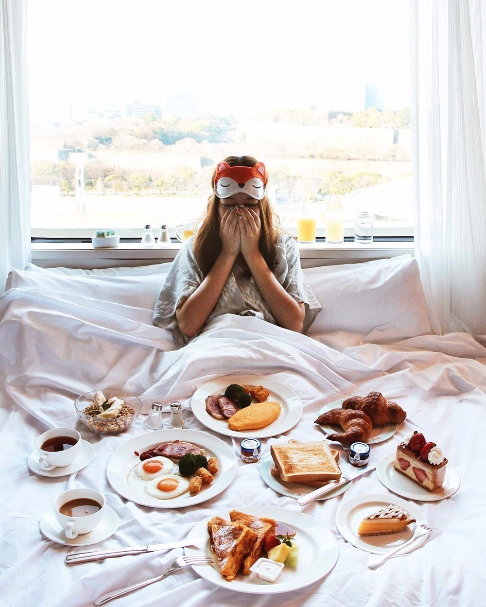 ベットでの朝食