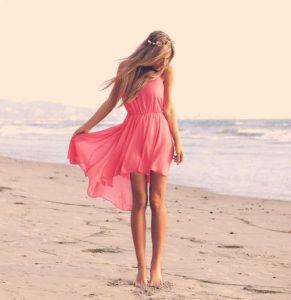 ビーチの美脚
