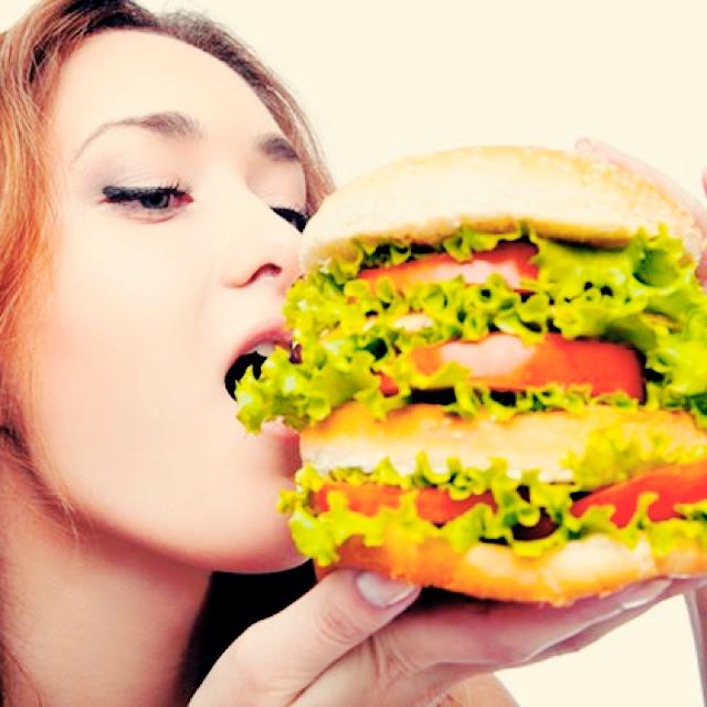 野菜たっぷりハンバーガー