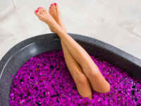 お風呂で脚痩せストレッチ