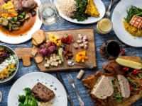テーブルの食材
