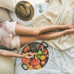 美脚と食事